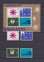 S16761) Bahamas MNH New 1971 Christmas 4v + S/S