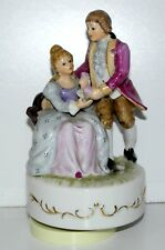 Porcelain Rotating Musical Box with wind up mechanism - Plays Love Story