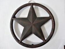 Country Barn Star Cast Iron Trivet Coaster Wall Hanging Table Top Copper Color