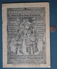 1908 Elgin,Illinois Every One A Santa Claus Christmas Contata Play Program-Rare!