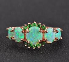 GV3 Opal Emeral Emerald Natural 4ct solid gold 10K 3.8g us7 Ring 2019 New Style