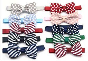 Pet Bow Tie Dog Cat Rabbit Puppy Accessories Adjustable Necktie Collar Nylon UK