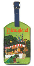 Leatherette Travel Luggage Tag Baggage Label - Disneyland by Stan Galli