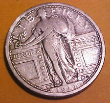 1917-D Standing 25c ~Type One ~Gem Circulated ~First Year Issue  ☆Make An Offer☆