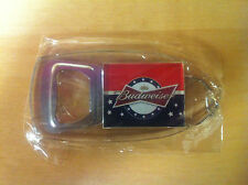 Budweiser Stars & Stripes Bottle Opener Key Ring ~ Set of TWO (2) ~ NEW & F/Ship