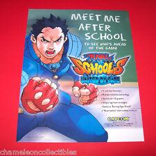 Capcom RIVAL SCHOOLS UNITED BY FATE Original  NOS 1998 Video Arcade Game Flyer