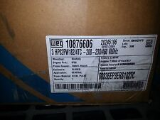 WEG 3 HP 182 TC 3600 RPM New In Box
