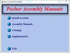 POCHER MODEL MANUALS CATALOGS  ROLLS ROYCE MERCEDES FERRARI ALFA on CD-ROM