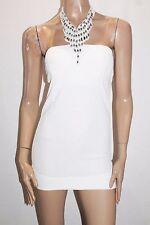 Unbranded Designer White Textured Halter Party Mini Dress Size XS BNWT #SR69
