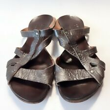 $249.00 Cydwoq Antiqued Brown Leather Summer Sandals size 7