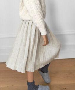 Zara Knitted Pleated Midi Skirt Stone Age 8