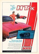 1969 Dodge Charger R/T Dixco Tach Original Advertisement Print Art Car Ad J592
