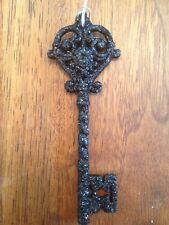 Bethany Lowe Black Glitter Skeleton Key Ornament--Retired