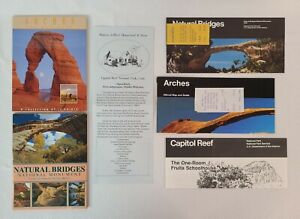 ARCHES, NATURAL BRIDGES, CAPITOL REEF National Parks 24 Postcards and Brochures