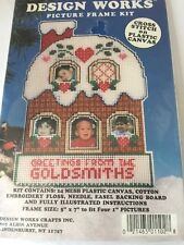 Cross Stitch Plastic Canvas Kit Design Works Christmas Picture Frame