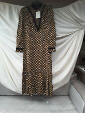 Orla kiely Viscose Print Margaret  Smock Bib Dress Size10
