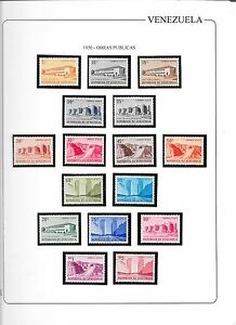 Venezuela: 1956; Scott C613-C628 Mint NH(1Val.Hing.) Public works. VG017