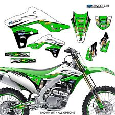 2009 2010 2011 2012 KX 125 250 GRAPHICS KIT KAWASAKI KX250 DECO DECALS STICKERS