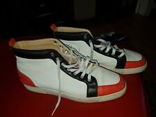 White,red and black Christian Louboutin Sneakers uk sz 47
