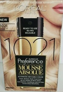 L'Oreal Paris Superior Preference Mousse Absolute 1021 Lightest Icy Blonde New