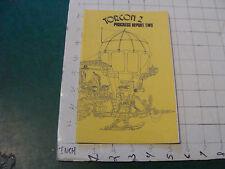 HIGH GRADE: TORCON 2 --31ST WORLD SCI FI CON PROGRESS REPORT 2; 16pgs --1973