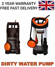 More details for dirty water submersible pump clean electric pond flood 400w-1100w heavy duty