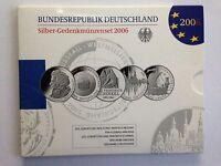 2006, BRD, Silber - Gedenkmünzenset, Polierte Platte (PP), Schnäppchen !!!