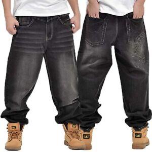 Hip-Hop Skateboardhosen Herren Jeans Straight-Cut Gerades Bein Jeanshose