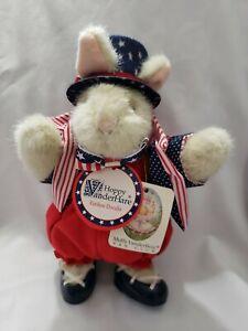 Muffy VanderBear's HOPPY VANDERHARE 1992 Yankee Doodle Bunny With Tags