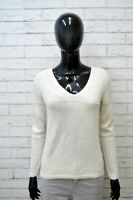 Maglione WOOLRICH Donna Taglia Size M Pullover Cardigan Sweater Woman Beige