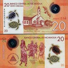 Nicaragua - 20 Cordobas - UNC Polymer note - 2015 issue