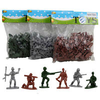 100 pieces Army Men Toy Soldiers Military Plastic Action Model Figures Play Set