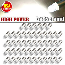 50x Pure White Ba9S Led Interior Instrument Dashboard Dome Map Gauge Light Bulbs
