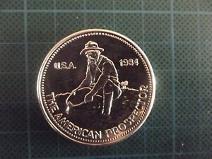 1984 Engelhard The American Prospector, 1 Troy Ounce, 'Eagle' Reverse.