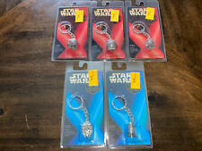 Star Wars Pewter Keychain Lot of 5 Sealed NEW