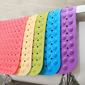 massage PVC Plastic Rubber Non-slip Shower Bathroom Bath  Mat Massage  colourful