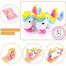 12CM Unicorn Squishy Slow Rising Cartoon Doll Squeeze Toy Collectibles Wholesale