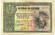 BILLETE DE 500 PESETAS DE 1940 (BC) ENTIERRO CONDE ORGAZ (SIN SERIE)