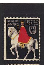 Poster Stamp Label 1925 JAHRTAUSEND AUSSTELLUNG Aachen Germany Prince on Horse