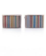 Paul Smith Cufflinks - BNWT Stitched Signature Multi Stripe RRP: £85