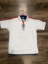 England Football Jersey 2003-2005 Home Umbro White Mens XL