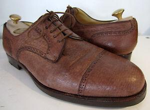 Stemar Honey Brown Oxford Cap Lace up Shoes UK 10 EU 44.5 Moreschi