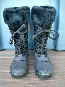 Baby Phat Squirt Boot Lace Up Black Size 7.5 Mid Calf