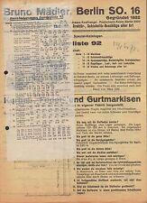 BERLIN, illustrierte Sonder-Preisliste 1934, Bruno Mädler Fabrik Markisen Beschl