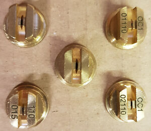 5 x Brass 110 Degrees Fan Spray Nozzle Tips, Assorted Sizes Spare/Accessories