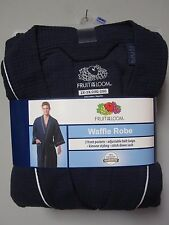 Fruit of the Loom Men's Navy Waffle Robe Size 2XL/3XL
