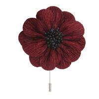 Handmade Men Lapel Flower Stick Pins Brooch Boutonniere Breastpin Suits