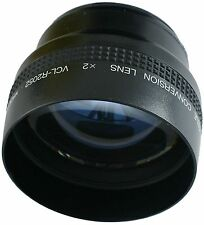 SONY VCL-R2052 2.0X TELEPHOTO CONVERTER 52 MM LENS FOR CAMCORDER & STILL CAMERA