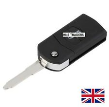 "NEW 2 Button for MAZDA 2 3 5 6 FLIP REMOTE KEY FOB CASE WITH BLADE ""WITH LOGO"""