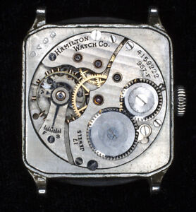 Vintage Hamilton Square Cut Corner 14K Gold Filled Watch17Jewels  NO~RESERVE